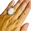 Women's Artisan Dendrite Opal  925 Sterling Silver Ring Size 6.5