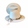 White Fedora Hat Gambler Tribly Hats Fall Fashion OSFM