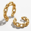 Gold Ear Cuffs Braided Unisex