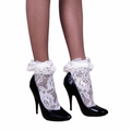 Women's Frilly Lace Ankle Socks White Lace Ankle Sock - Wild Time Fashion