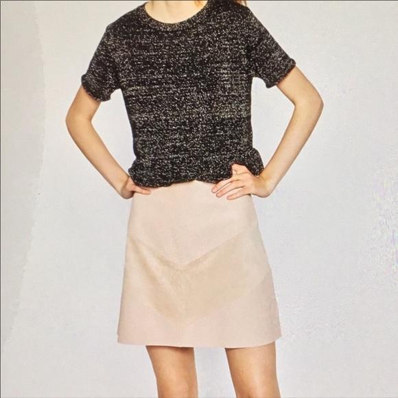Zara Suede Leather Mini Skirt Size Medium Skirt - FREE SHIPPING USA