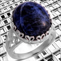 Women's Ring Jewelry 925 Sterling Silver Sodalite - FREE SHIPPING USA - Wild Time Fashion