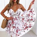 Boho Chic Ruffled Floral Crocheted Dress - FREE SHIPPING USA - Wild Time Fashion