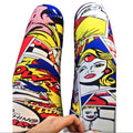 Women's multi colored leggings pants comic book print One Size Wild Time Fashion USA Herriman Utah