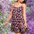 Women's Floral Baby Doll Tank Top - FREE SHIPPING USA - Wild Time Fashion