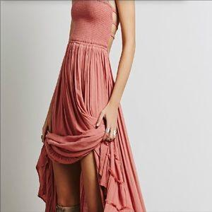 Backless Long Flowing Ruffled Summer Dress - FREE SHIPPING USA - Wild Time Fashion