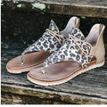 Leopard Design Comfortable Footbed Summer Sandals - FREE SHIPPING USA - Wild Time Fashion