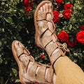 Leather Gladiator Sandals Freebird by Steven - FREE SHIPPING USA - Wild Time Fashion
