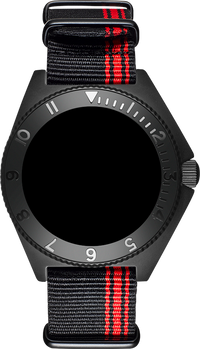 Mayfair Strap NATO Black/Red Stripe