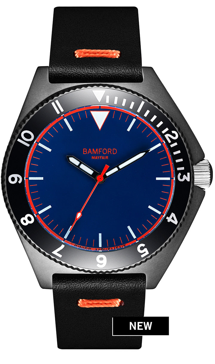Bamford Mayfair - Navy & Orange
