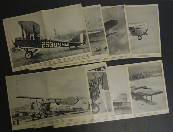 Eight (8) Vintage United Air Lines Promotional Photo Posters - circa 1935