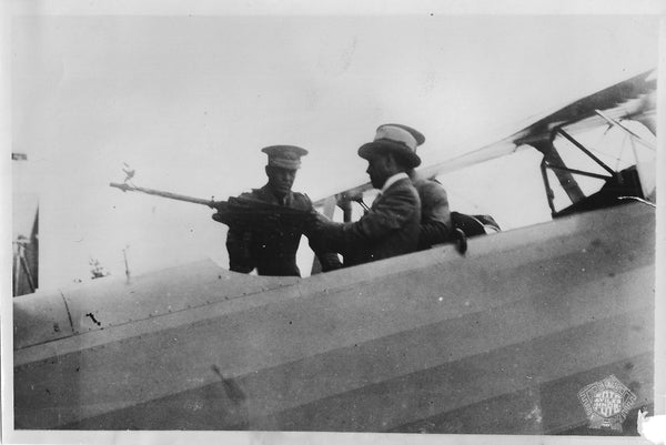Peruvian President Checks Out Machinegun - 1933