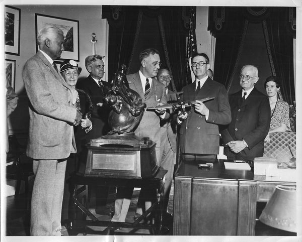 FDR Presents Collier Trophy to Glenn L. Martin - 1933