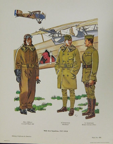 96th Aero Squadron 1917-1918 Litho - Dealer Lot