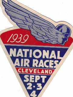 1939 Cleveland National Air Race Sticker