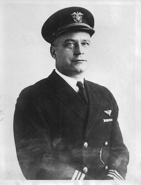 Commander V.A. Clark, USN Navy on Graf Zeppelin to U.S. - 1929