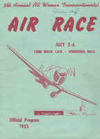 1955 Powder Puff Derby Program - Contestant's Personal Copy