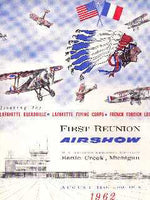 1962 - Lafayette Escadrille, Lafayette Flying Corps, French Foreign Legion Airshow Program