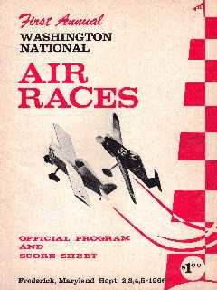 1966 Washington National Air Race Program