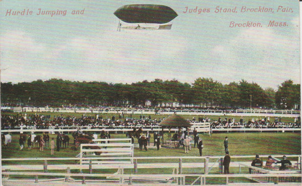 Racetrack with Airship Above - 1907