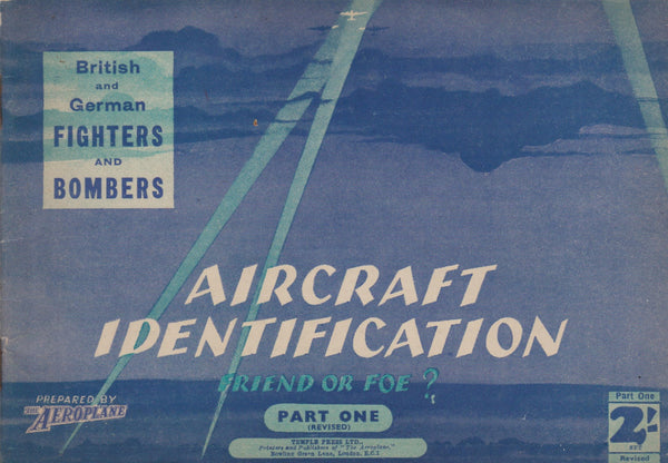 "Set of 4 WWII Aircraft Identification ""Friend or Foe?"" Booklets - 1940/41"