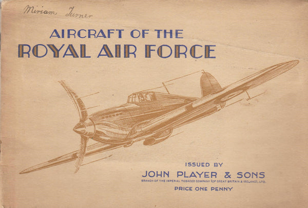 Player Cigarette Card Album - AIRCRAFT OF THE RAF - circa 1943