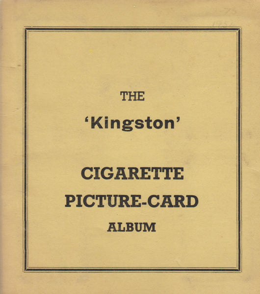 "The ""Kingston"" Cigarette Picture Card Album - circa 1955"