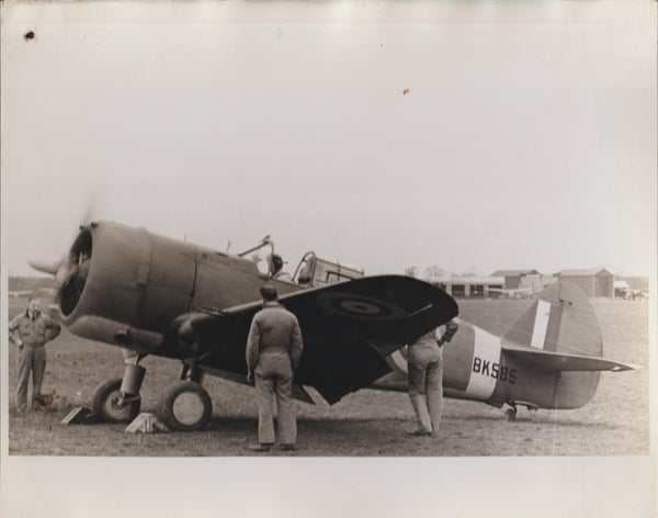 Vintage Original WWII Photo - Curtiss Mohawk (P-36A)