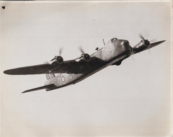 Vintage Original WWII Photo - Short Sterling Heavy Bomber