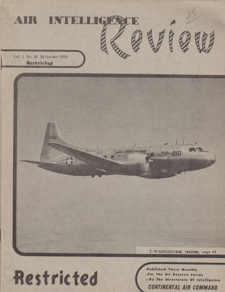 Air Intelligence Review, 4 issues - 1950/51