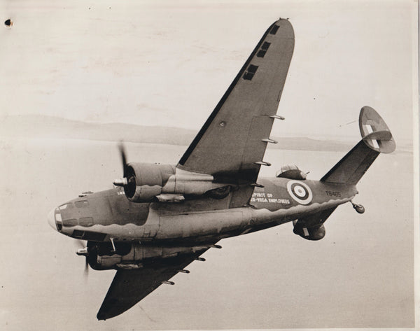 Official Vintage WWII Photo - Lockheed Hudson