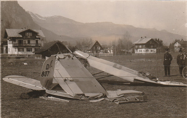 Original German Crash Photo Postcard - circa 1930