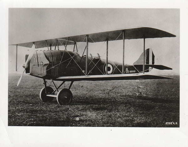 WWI USAS Official Photo - Foreign Biplane