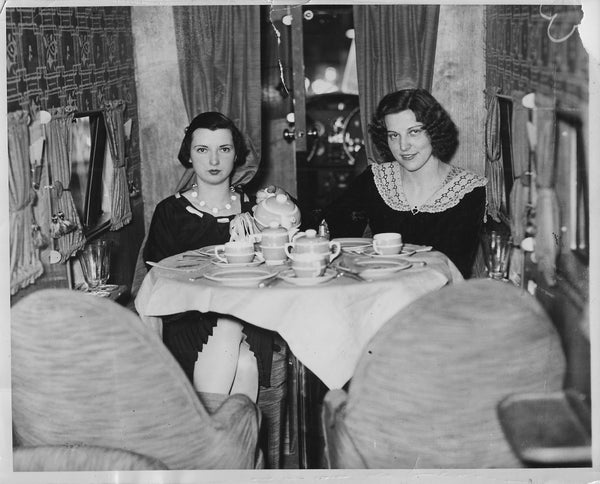 Lunch in a Stinson Tri-Motor at Detroit National Aviation Show - 1931