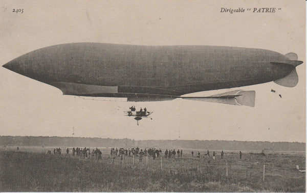 "French Postcard, Airship ""Patrie"""