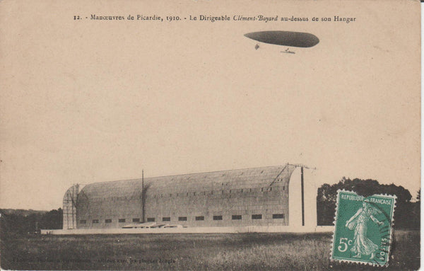 "French Postcard Airship ""Clement Bayard"" - 1910/1911"
