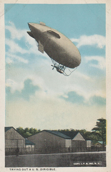 """Trying Out a U.S. Dirigible"" - circa 1925"