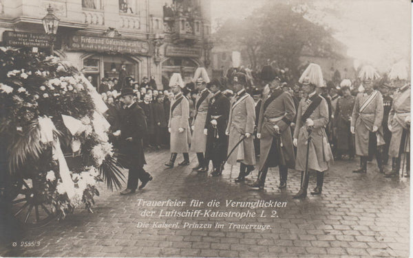Zeppelin L2  Funeral Procession - 1913