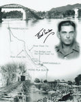 Signed WWII Photo - Fred Seiker, Bridge Over River Kwai POW