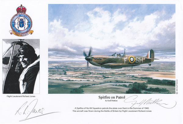 Limited Edition Print Signed by Artist Geoff Nutkins and Pilot Richard Jones, WWII