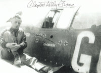 Signed Photo - Clayton Kelly Gross, 6 Victory Ace, WWII