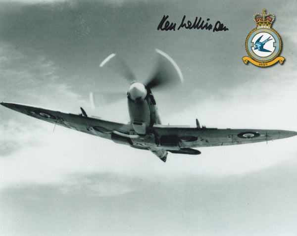 Signed WWII Photograph - Ken Wilkinson, Battle of Britain