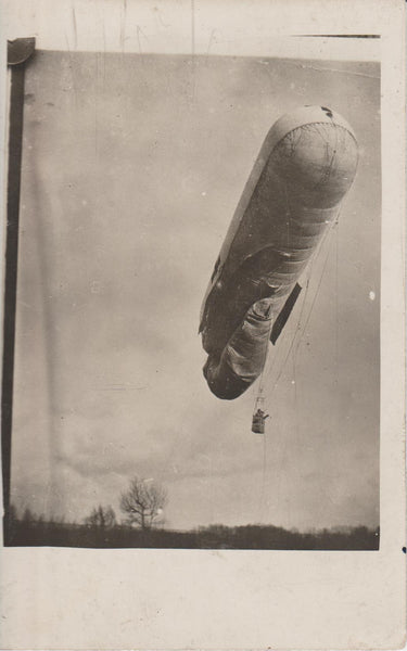 WWI Observation Balloon Postcard - circa 1917