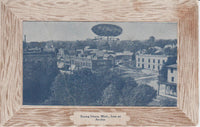 Fantasy Card, Airship Over Ithaca, Michigan - circa 1910