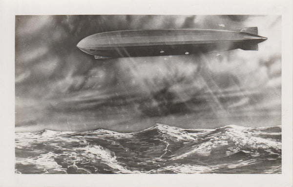 Graf Zeppelin Over Ocean - circa 1929