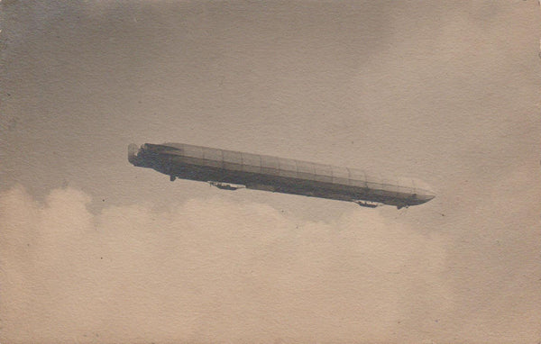 Early Zeppelin in Flight - circa 1910