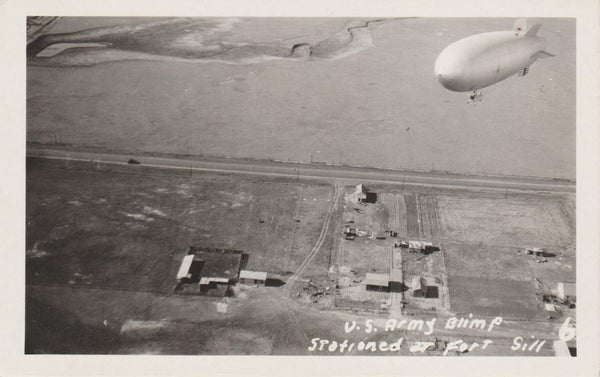 U.S. Army Blimp at Fort Sill, Oklahoma - 1942