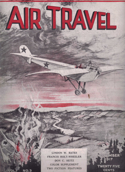 AIR TRAVEL Magazine Lot - early issues, 1917-1918