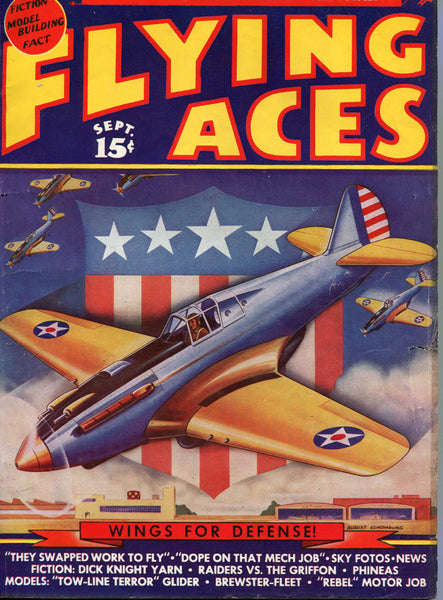 Flying Aces Magazine - 34 issues - 1940's