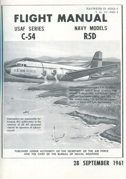 C-54 (USAF) / R5D (USN) Flight Manual